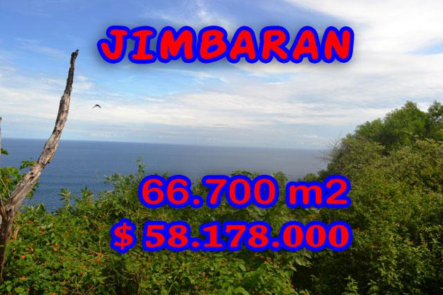 Impressive Property in Bali, Land for sale in Jimbaran Bali – 66.700 m2 @ $ 872