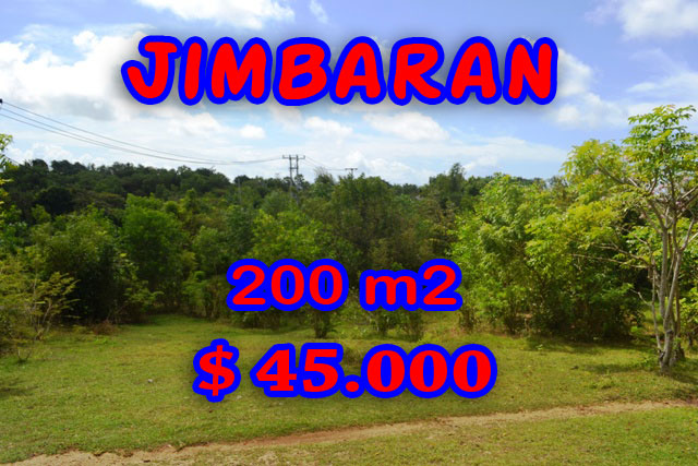 Land for sale in Bali, Excellent view in Jimbaran Bali – 200 m2 @ $ 222
