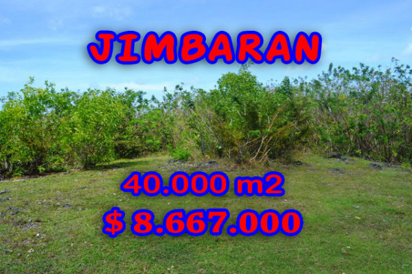 Land for sale in Bali, Beautiful view in Jimbaran Bali – 40.000 sqm @ $ 217