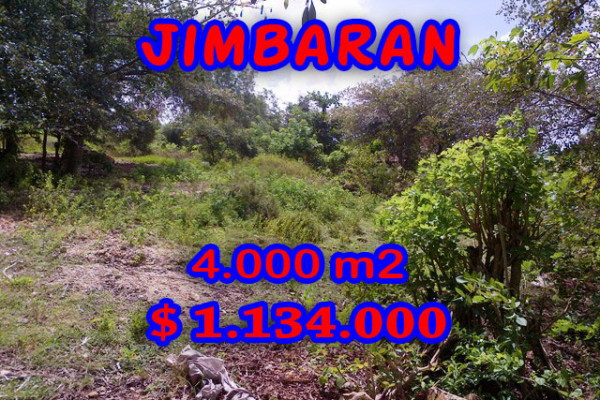 Land in Bali for sale, Eye-catching view in Jimbaran Bali – 4.000 sqm @ $ 283