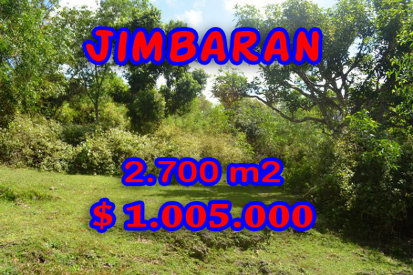 Land for sale in Bali, Fabulous view in Jimbaran Bali – 2.700 sqm @ $ 372
