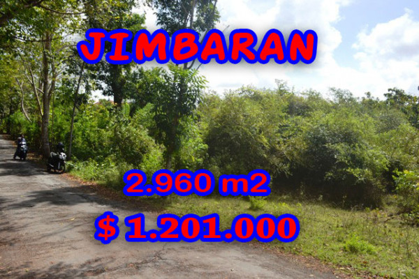 Land for sale in Bali Indonesia, Eye-catching view in Jimbaran Bali – 2.960 m2 @ $ 406