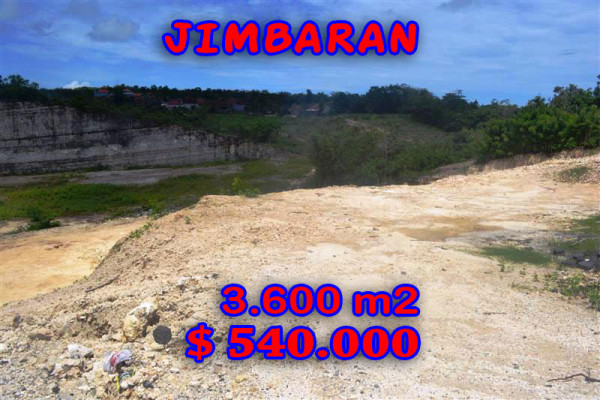 Land in Bali for sale, Excellent Property in Jimbaran Bali – 3.600 sqm @ $ 150