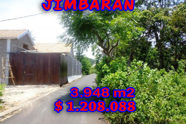 Splendid Property for sale in Bali, Jimbaran land for sale – 3.948 m2 @ $ 306