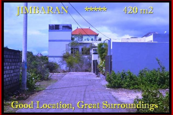 Exotic Jimbaran Ungasan 420 m2 LAND FOR SALE TJJI096