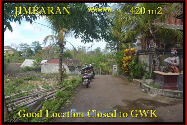 420 m2 LAND IN Jimbaran Ungasan FOR SALE TJJI083