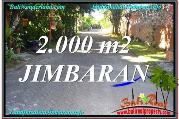 Exotic 2,000 m2 LAND FOR SALE IN Jimbaran Uluwatu  TJJI115