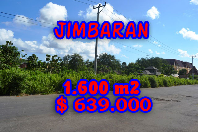 Splendid Property for sale in Bali, Jimbaran land for sale – 1.620 m2 @ $ 394