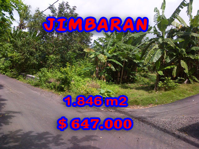 Land for sale in Bali Indonesia, Amazing view in Jimbaran Bali – 1.846 m2 @ $ 350