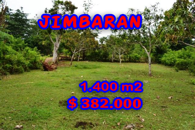 Land for sale in Bali Indonesia, Eye-catching view in Jimbaran Bali – 1.400 m2 @ $ 272