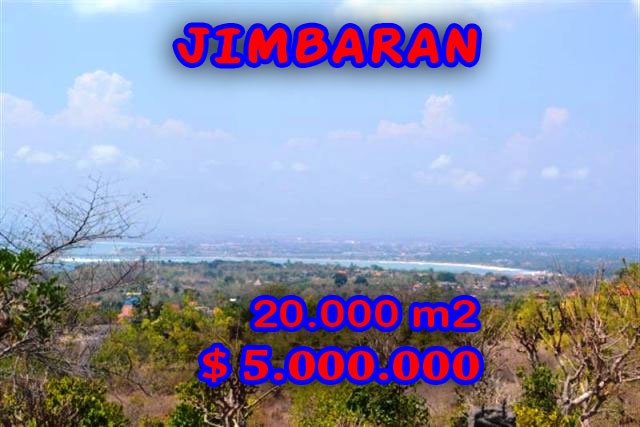 Land in Bali for sale, Astonishing view in Jimbaran Bali – 20.000 m2 @ $ 250