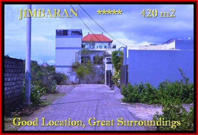 Exotic Jimbaran Ungasan 420 m2 LAND FOR SALE TJJI096