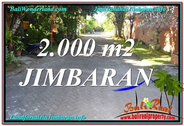 Exotic 2,000 m2 LAND IN Jimbaran Uluwatu  FOR SALE TJJI115